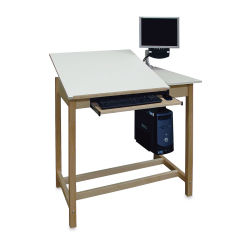 Hann CAD Drafting Table With Split Fiberesin Top - Computer not included