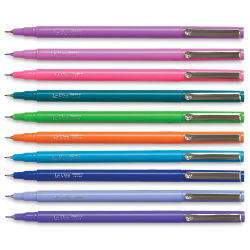 Marvy Uchida LePen Fine Line Marker Set - Bright Colors, Set of 10