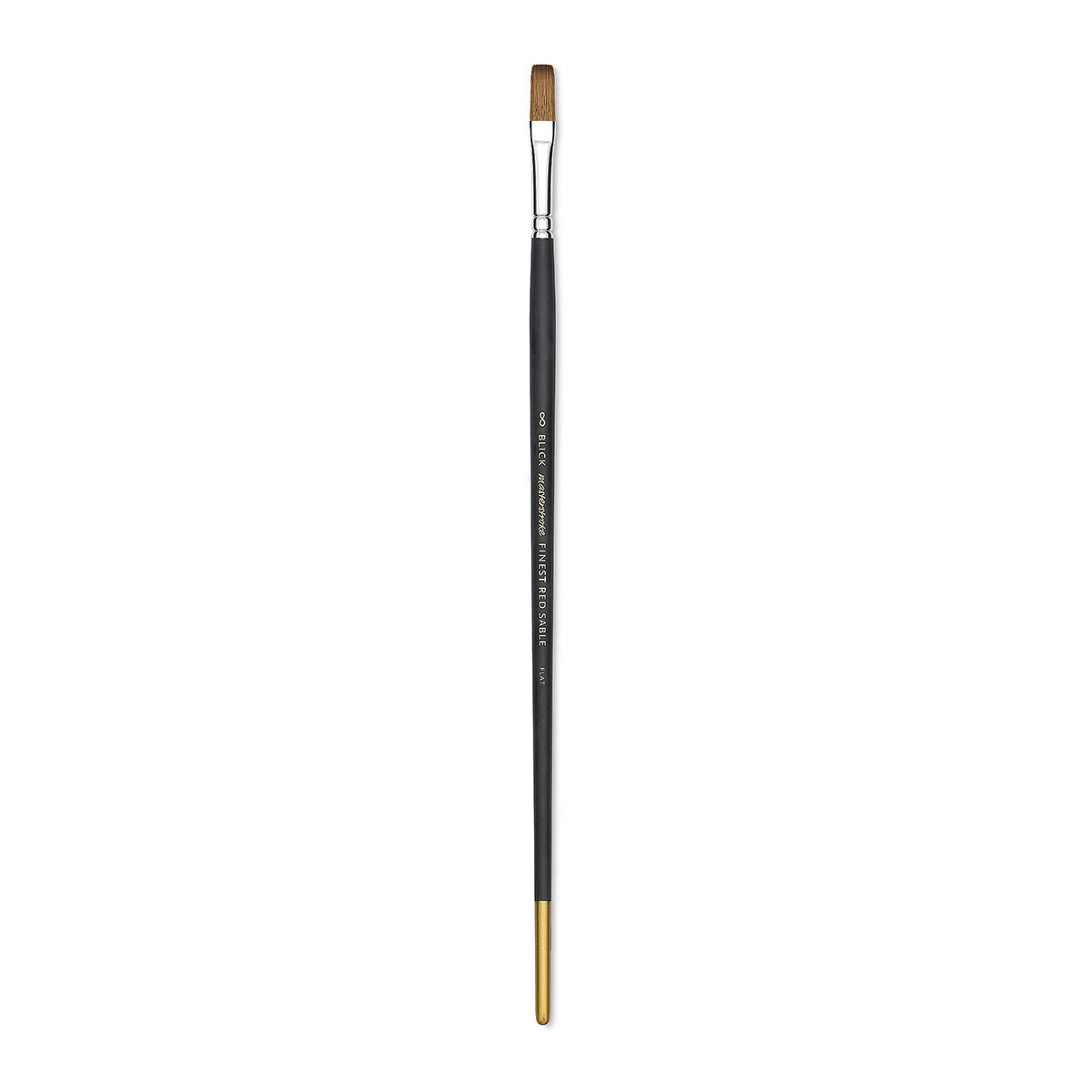 Blick Masterstroke Finest Red Sable Brush - Flat, Size 8, Long Handle