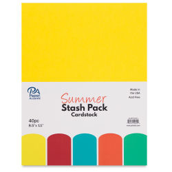 Paper Accents Cardstock Stash Pack - Summer, Pkg of 40 Sheets, 8-1/2'' x 11''