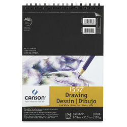 Canson Pure White Drawing Pad - 80 lb, 24 Sheets, 9'' x 12''