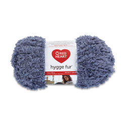 Red Heart Yarn Hygge Fur - Slate Blue