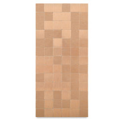 Diamond Tech Metal Tile Half Sheet - Rose Gold, 23 mm Squares