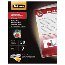 Fellowes ImageLast Thermal Laminating Pouches - 11-1/2'' x 9'', 3 ml, Pkg of 50