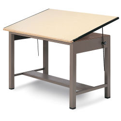 Mayline Ranger Small Steel Four-Post Drawing Table - 60'' x 37-1/2''