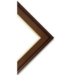 Blick Simplon Frame with Liner - 12'' x 24'' x 5/16'', Walnut/Gold