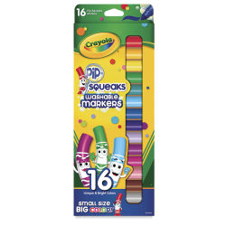 Crayola Pip-Squeaks Washable Marker Set - Assorted Colors, Set of 16