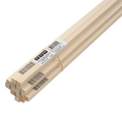 "Bud Nosen Basswood Sticks - 3/8"" x 3/8"" x 24"", 15 Sticks"