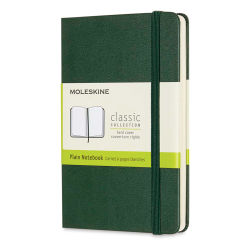 "Moleskine Classic Hardcover Notebook - Metallic Green, Blank, 5-1/2"" x 3-1/2"""
