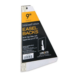 Lineco Self-Stick Easel Backs - 9'', White, Self-Stick, Pkg of 5