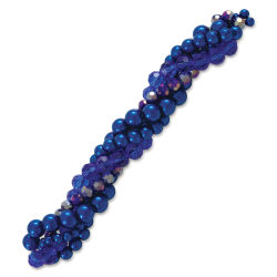 John Bead Twisted Crystal Bead Strands - Siberian Squill