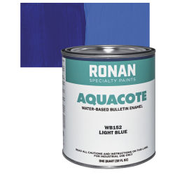 Ronan Aquacote Water-Based Acrylic Color - Light Blue, Quart