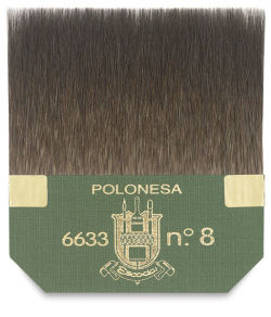 Escoda Squirrel Hair Tip Brush - Square Edge Gilding, Size 8