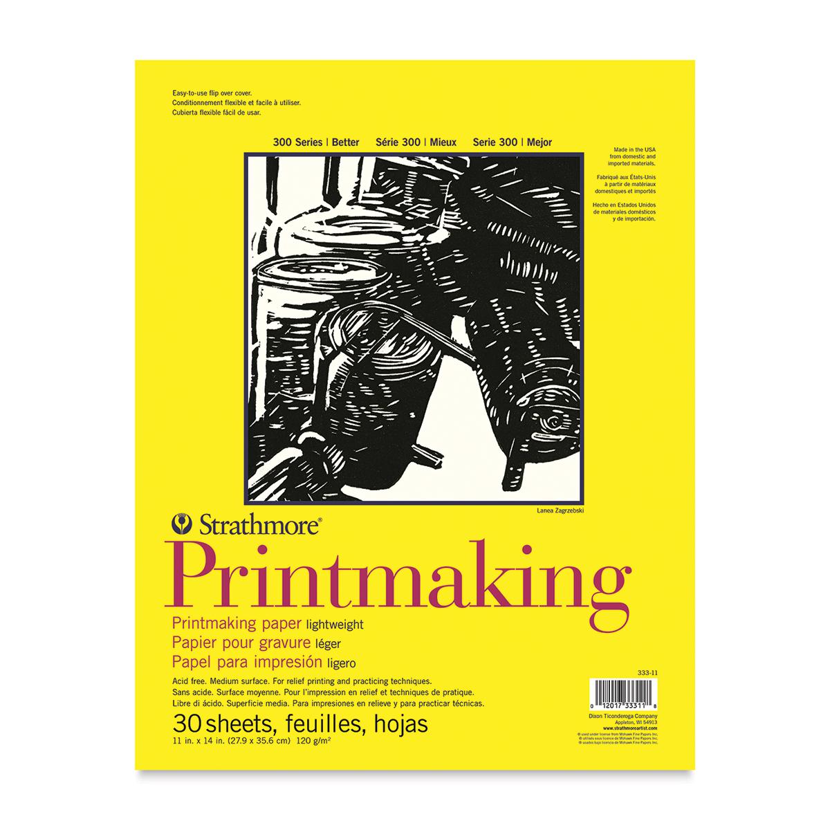 Strathmore 300 Series Printmaking Paper - 11 x 14, 30 Sheets