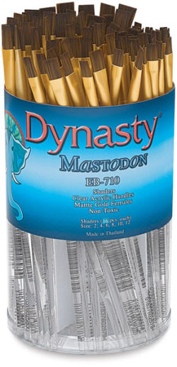 Dynasty Mastodon Synthetic Brush Canister - Shader, Set of 120