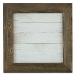 Hampton Art Mix the Media Framed Board - White Shiplap, 14'' x 14''