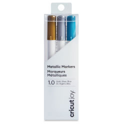 Cricut Joy Markers - B, Assorted Metallic, Set of 3, 1.0 mm (In packaging)