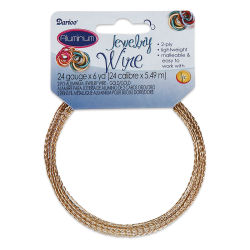 Darice Aluminum Jewelry Wire - Gold, 2-Ply, 6 yd