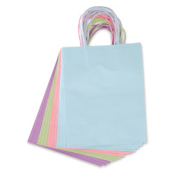 Gift Bags - Pastel Colors, Pkg of 13, Medium, 10'' x 8'' x 4-3/4''