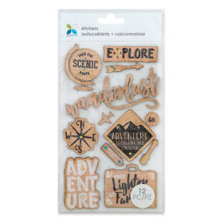 Momenta Wood Stickers - Travel