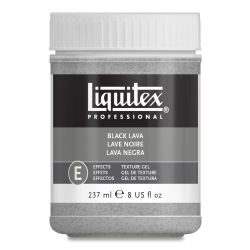 Liquitex Texture Gel - Black Lava, 8 oz jar