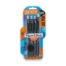 Paper Mate Inkjoy Gel Pen Set - Black, 1.0 mm Tip, Pkg of 4