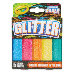 Crayola Washable Sidewalk Chalk - Special FX Glitter, Set of 5