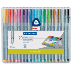 Staedtler Triplus Fineliner Pen - Assorted Colors, Set of 20