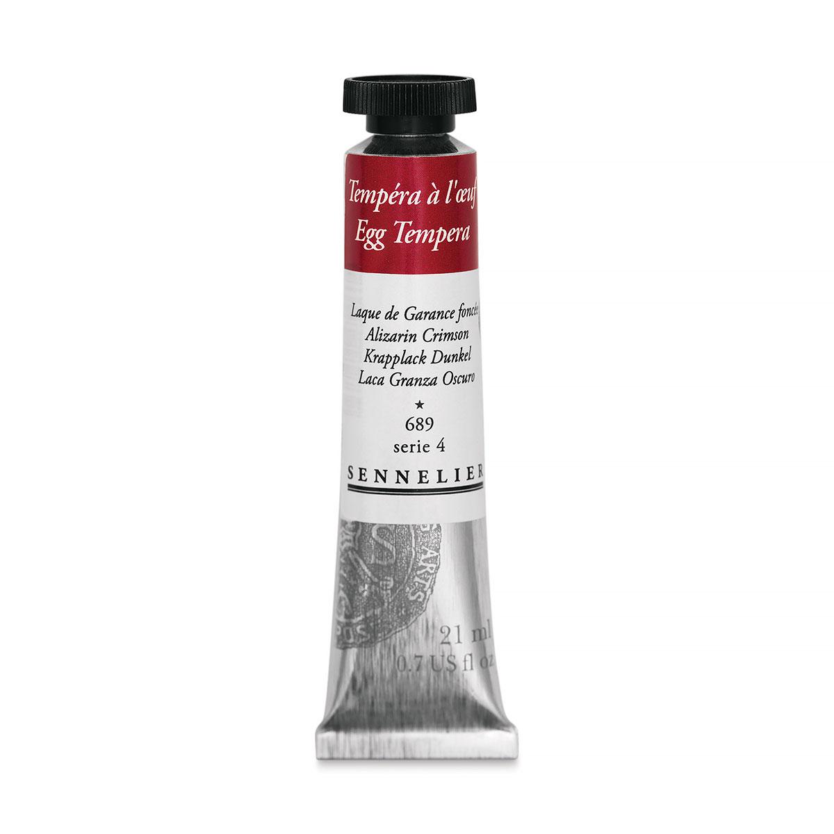 Sennelier Artists Egg Tempera - Alizarin Crimson, 21 ml tube