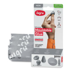 Sugru Mouldable Glue - Pkg of 3, Grey