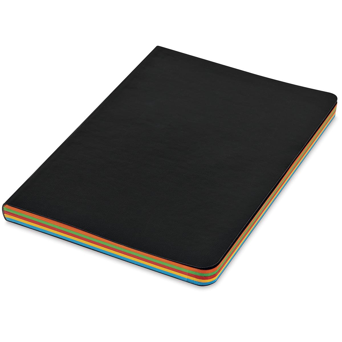 Shizen Faux Leather Journal  - Multi-Color, 8 x 6