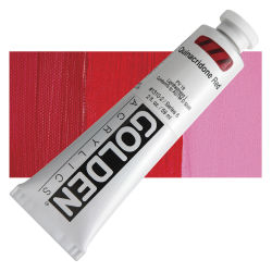 Golden Heavy Body Artist Acrylics - Quinacridone Red, 2 oz Tube