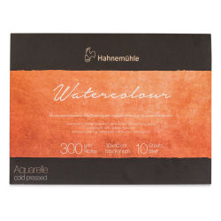 "Hahnemühle The Collection Watercolor Block - 11.81"" x 15.75"", 140 lb, 10 Sheets (front cover)"