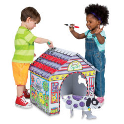 Color A Dog House Kit