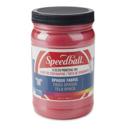 Speedball Opaque Iridescent Screen Printing Ink - Raspberry, 32 oz