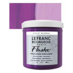 Lefranc & Bourgeois Flashe Vinyl Paint - Mineral Violet, 125 ml jar