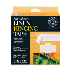 Lineco Self-Adhesive Linen Hinging Tape - 1 1/4'' x 150 ft