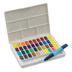 Faber Castell Creative Studio Half Pan Watercolor Sets - Assorted Colors, Set of 36