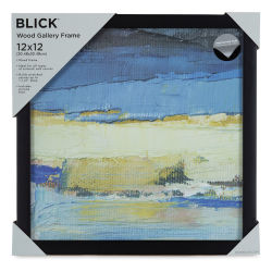 Blick Wood Gallery Frame - Black, 12'' x 12''