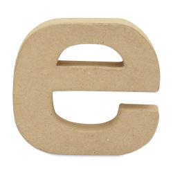 "DecoPatch Paper Mache Small Kraft Letter - E, Lowercase, 3-1/2"" W x 3-2/5"" H x 1/2"" D"