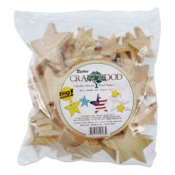 Darice 2-D Wood Cutouts - Stars, Assorted Sizes, 500 g