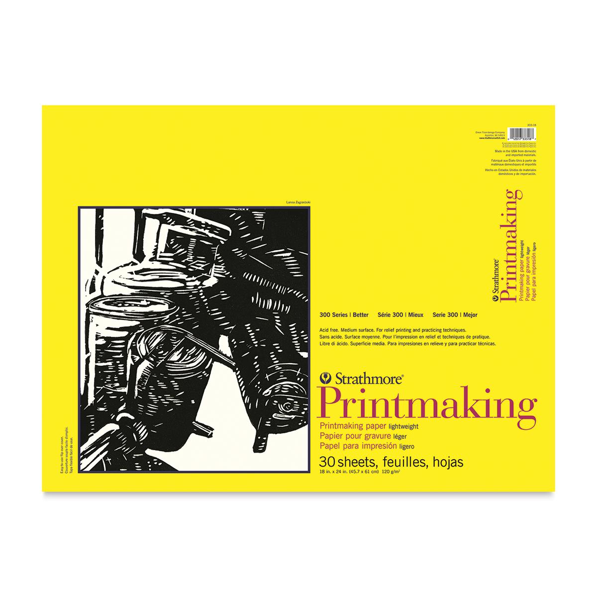 Strathmore 300 Series Printmaking Paper - 18 x 24, 30 Sheets