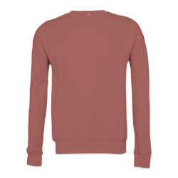 Bella + Canvas Unisex Sponge Fleece Drop Shoulder Sweatshirt - Mauve, Medium