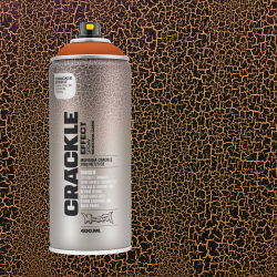Montana Crackle Effect Spray - Copper Brown, 11 oz (Spray can with swatch)