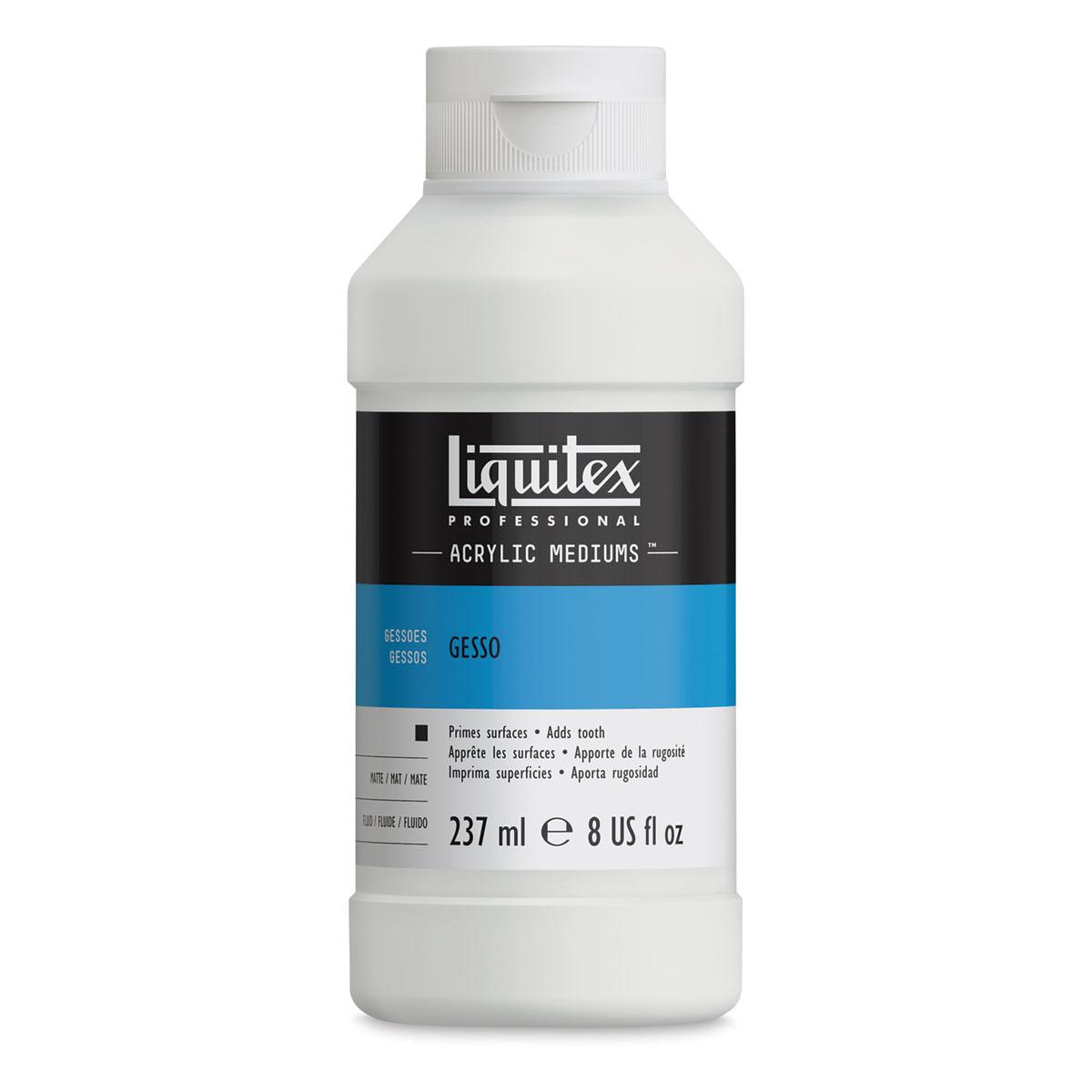 Liquitex Acrylic Gesso - White, 8 oz bottle