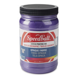 Speedball Opaque Iridescent Screen Printing Ink - Amethyst, 32 oz