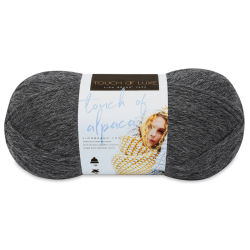 Lion Brand Touch of Alpaca Yarn - Charcoal