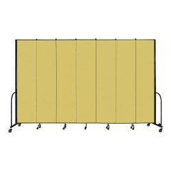 Screenflex Portable Room Dividers - 8 ft, Yellow, 7 Panel