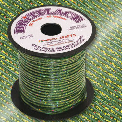 Rexlace Britelace - 50 yards, Green Holographic