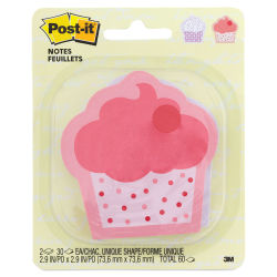 Post-it Note Shapes - Cupcake, Pkg of 2, 3'' x 3''